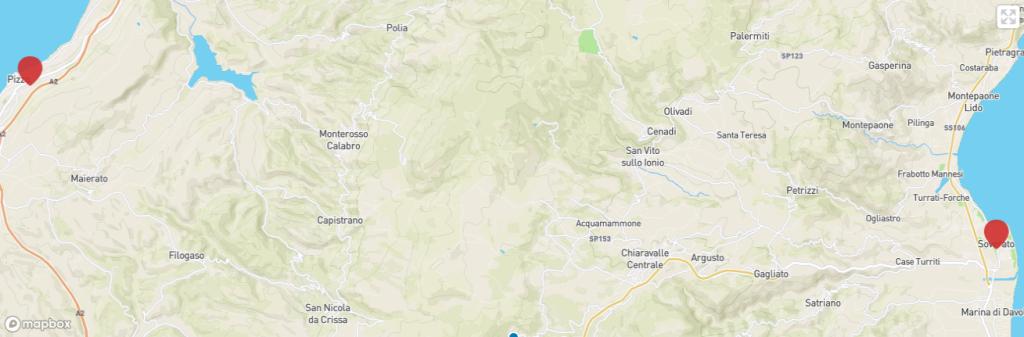 Calabria coast to coast itinerario tappe